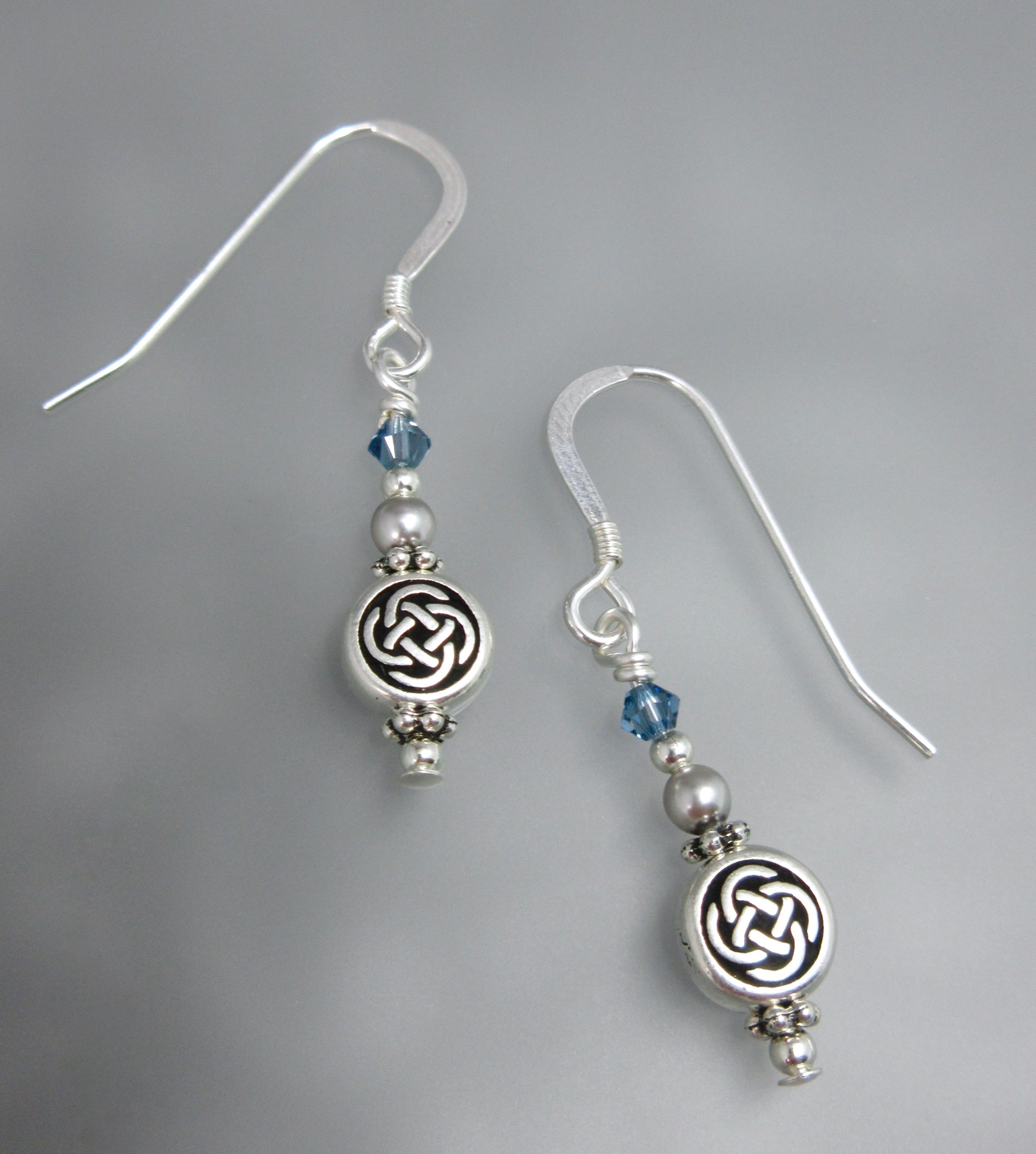 a49add1b4 Celtic Knot Earrings in Night Blue (smaller earrings)
